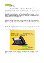 Free USA Virtual Phone Number Services For Sound Business