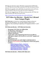 WP Video Ace Review and $30000 Bonus - WP Video Ace 80% DISCOUNT