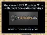 Accounting Outsourcing Services - Outsource CPA Services