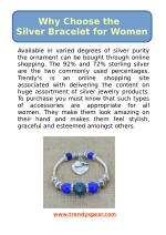 Why Choose the Silver Bracelet for Women