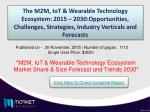 M2M, IoT & Wearable Technology Ecosystem: 2015 – 2030 – Opportunities