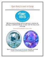 Bank Account Opening in Europe with IBS