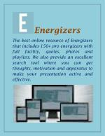 Energisers For Classrooms