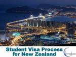 Student Visa Process for New Zealand