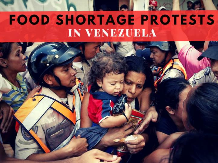 Food shortage protests in Venezuela