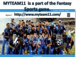 Fantasy Cricket | My Team 11 | Live Cricket Score