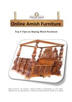 Top 4 Tips on Buying Wood Furniture