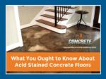 Different Color Options and Patterns for Acid Stained Floors
