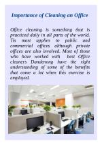 Importance of Cleaning an Office