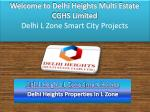 Delhi Heights L Zone Smart City Projects