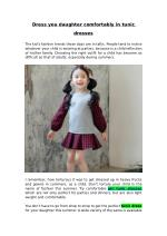 Dress you Daughter Comfortably in Tunic Dresses