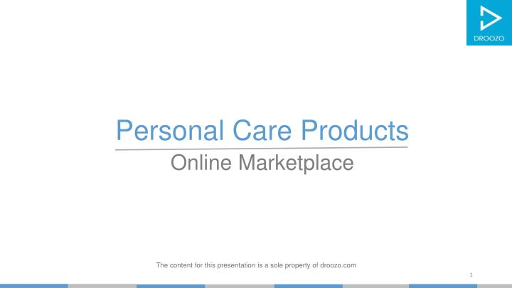 personal care products online marketplace n.
