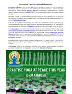 International Yoga Day and Crowd Management