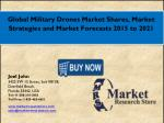 Global Military Drones Market 2016: Industry Size, Key Trends, Demand, Growth, Size, Review, Share, Analysis to 2021