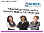 Advertising and Marketing Industry Mailing Addresses