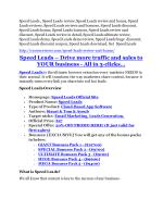 Speed Leads Review and Speed Leads (EXCLUSIVE) bonuses pack