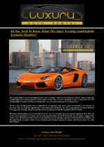 All You Need To Know About The Super Exciting Lamborghini Aventador Roadster!