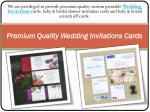 Premium Quality Wedding Invitations Cards
