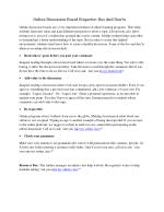 Online Discussion Board Etiquette: Dos And Don'ts