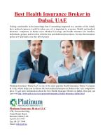 Best Health Insurance Broker in Dubai