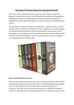 Read the Game of Thrones Books from George R R Martin