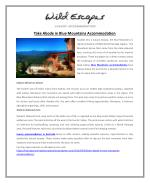 Take Abode in Blue Mountains Accommodation