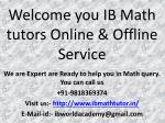 Home tuition for ib