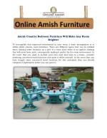 Amish Country Bedroom Furniture Will Make Any Room Brighter