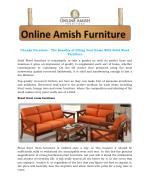 Chunky Furniture - The Benefits of Filling Your Home With Solid Wood Furniture