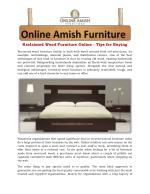 Reclaimed Wood Furniture Online - Tips for Buying