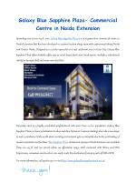 Galaxy blue sapphire plaza commercial centre in noida extension