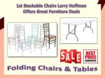 1st Stackable Chairs Larry Hoffman Offers Great Furniture Deals