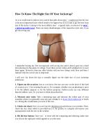 How To Know The Right Size Of Your Jockstrap?