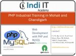 PHP industrial training in Chandigarh | Indi IT Academy
