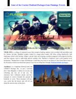 Some of the Craziest Thailand Packages from Flamingo Travels