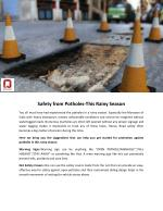 Safety from Potholes-This Rainy Season
