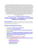 Profit Lead Funnels reviews and bonuses Profit Lead Funnels