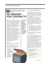 No Memory for Contracts