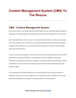 Why Content Management System Is Needed?