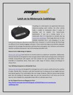 Latch on to Motorcycle Saddlebags