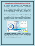 PaperCut Print Management System- An Effective Tool