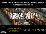 Best Deals on Scrap Cars, Metal, Wires & Computers in Mississauga