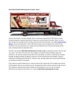 Local Movers San Antonio