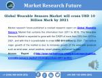 Wearable Sensors 2016 Market will cross USD 10 Billion & Expected to Grow at CAGR 35% & Forecast to 2021