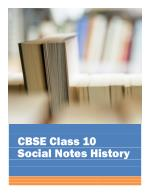 CBSE Class 10 Social Science History Notes