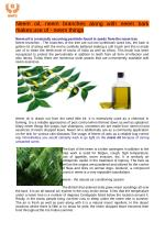 Neem oil is additionally use as a various skin diseases