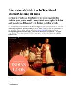 International Celebrities In Traditional Women Clothing Of India