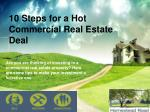 Commercial Real Estate Investing 10 Steps to Getting a Hot Deal