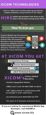 Hire Mobile App Developers at Xicom Technologies