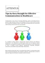 Tips by Kory Razaghi for Effective Communication in Healthcare